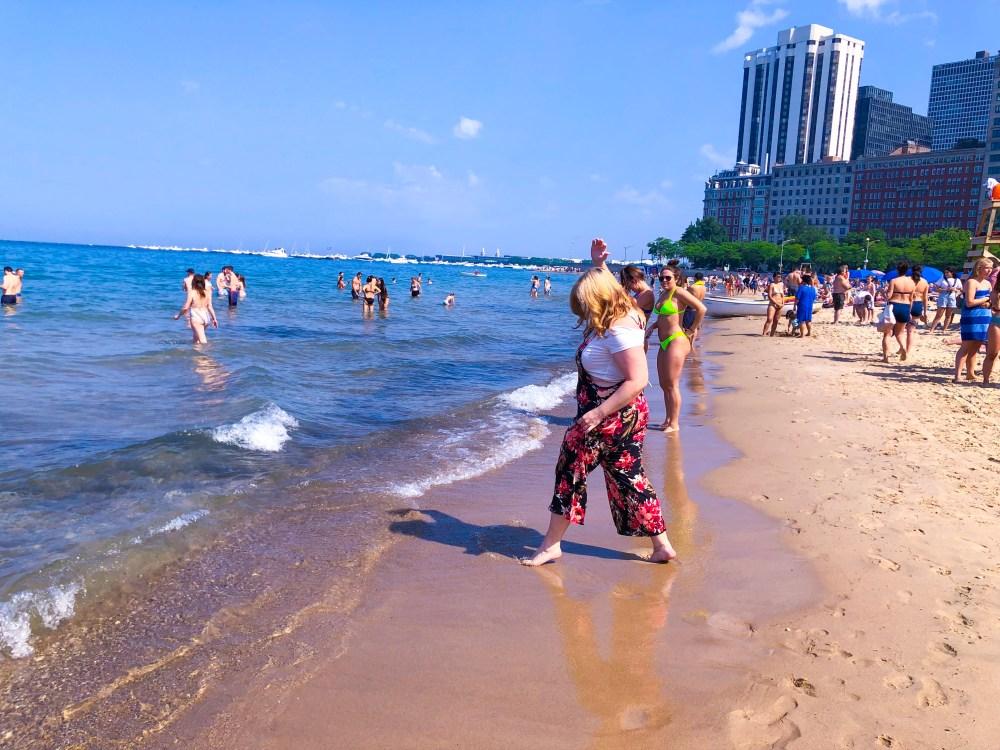 Oak Street Beach Chicago in the Summer