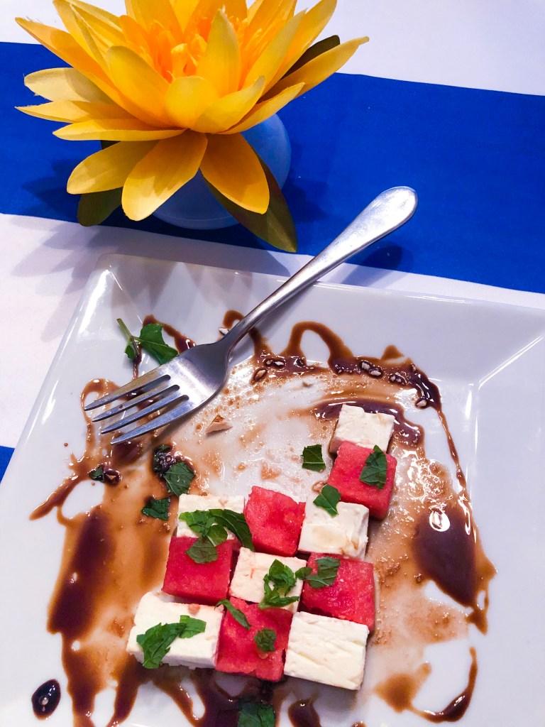 Watermelon Feta Checkerboard Salad