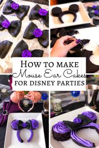 How to Make Disney Mickey Minnie Mouse Ear Cakes, Disney Party Ideas