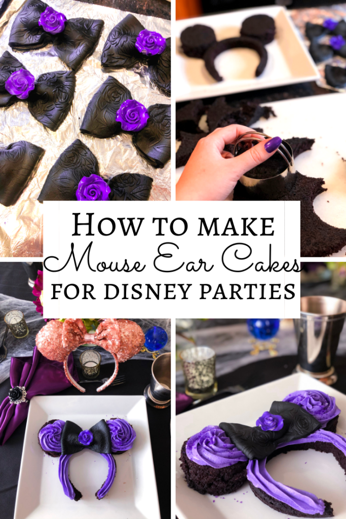 How to Make Disney Mickey Minnie Mouse Ear Cakes, Disney Party Ideas