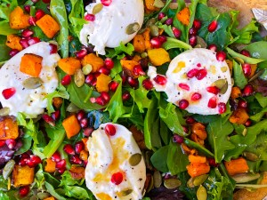 Butternut Squash Pomegranate Salad