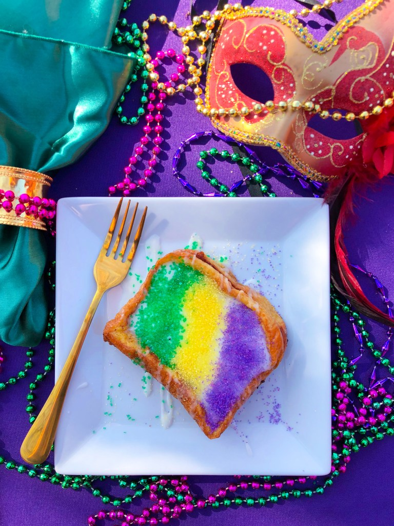 King Cake French Toast, Mardi Gras Recipes