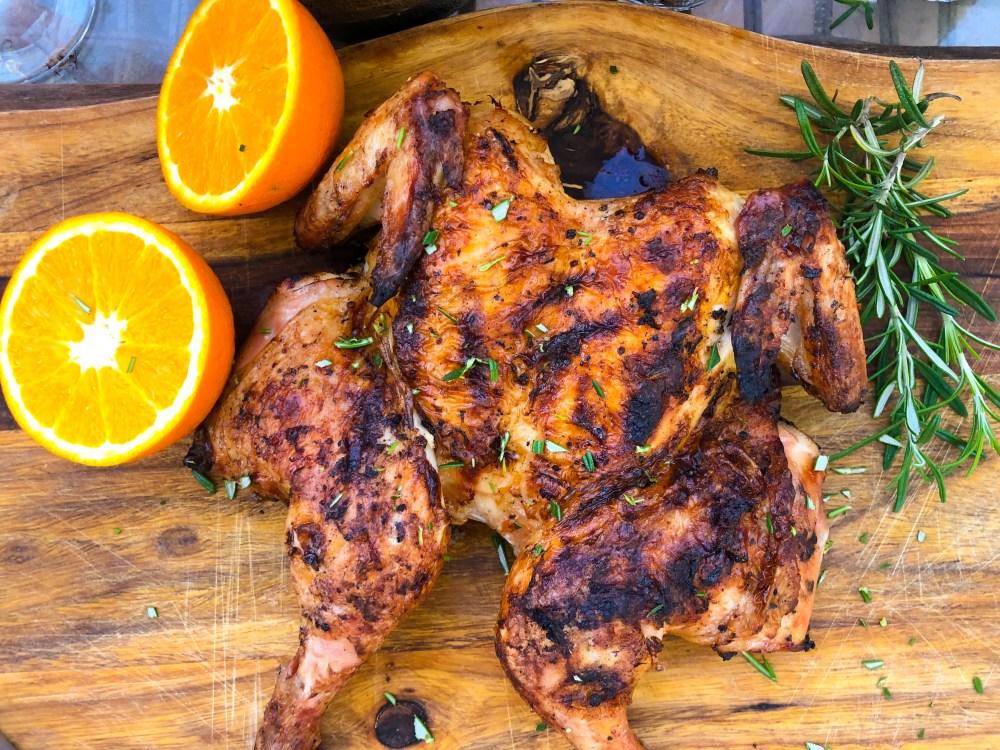 Orange Whole Grilled Chicken