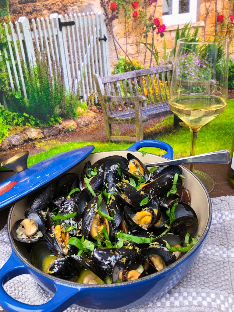 French White Wine Mussels