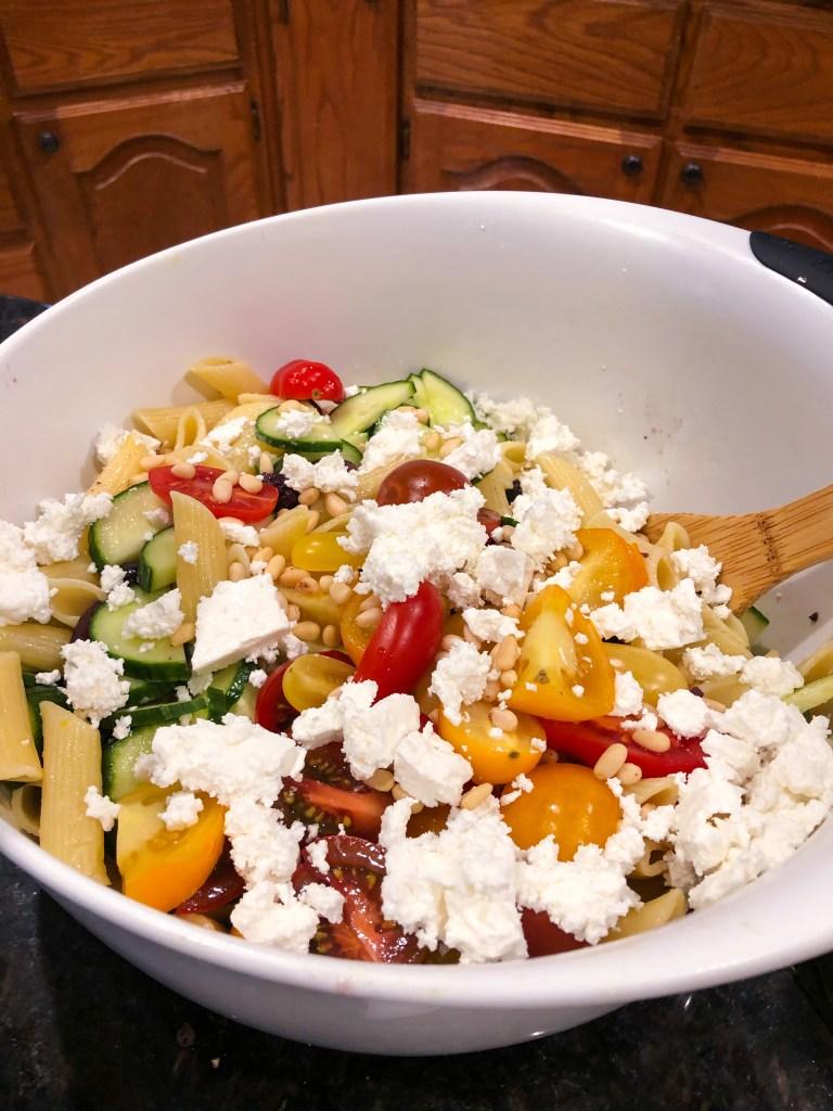 Squash Blossom Pasta Salad
