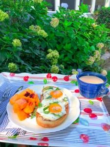 Sunny-Side Up Eggs & Toast