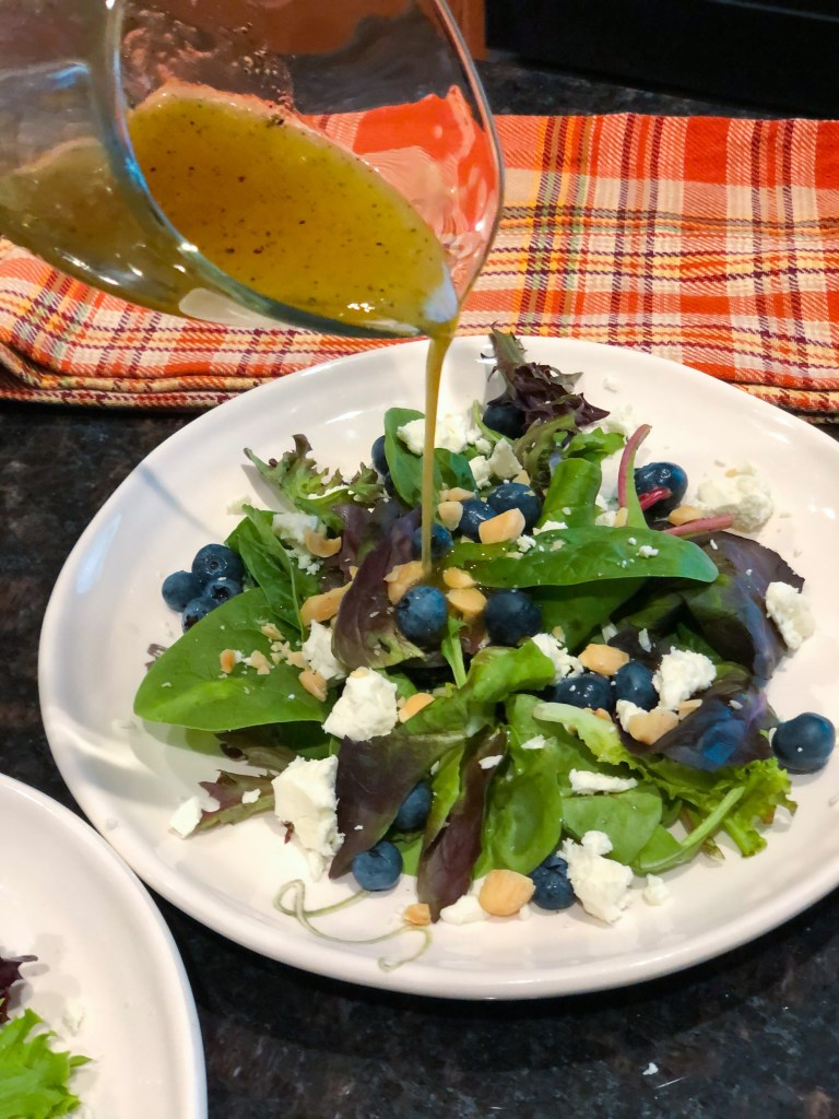 Blueberry Salad with MapleVinaigrette
