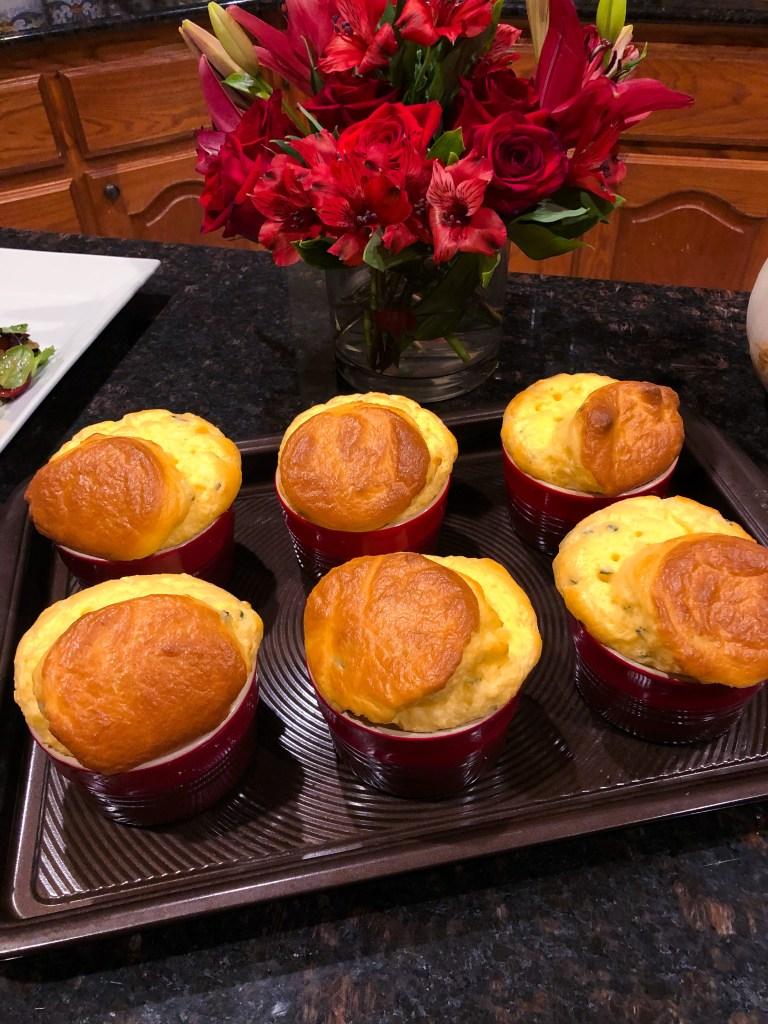 Cheddar & Chive Soufflés, Ramekin Souffle Recipe