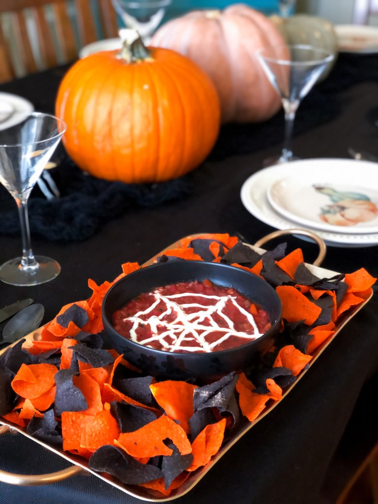Spiderweb Salsa | Halloween Party Food Ideas