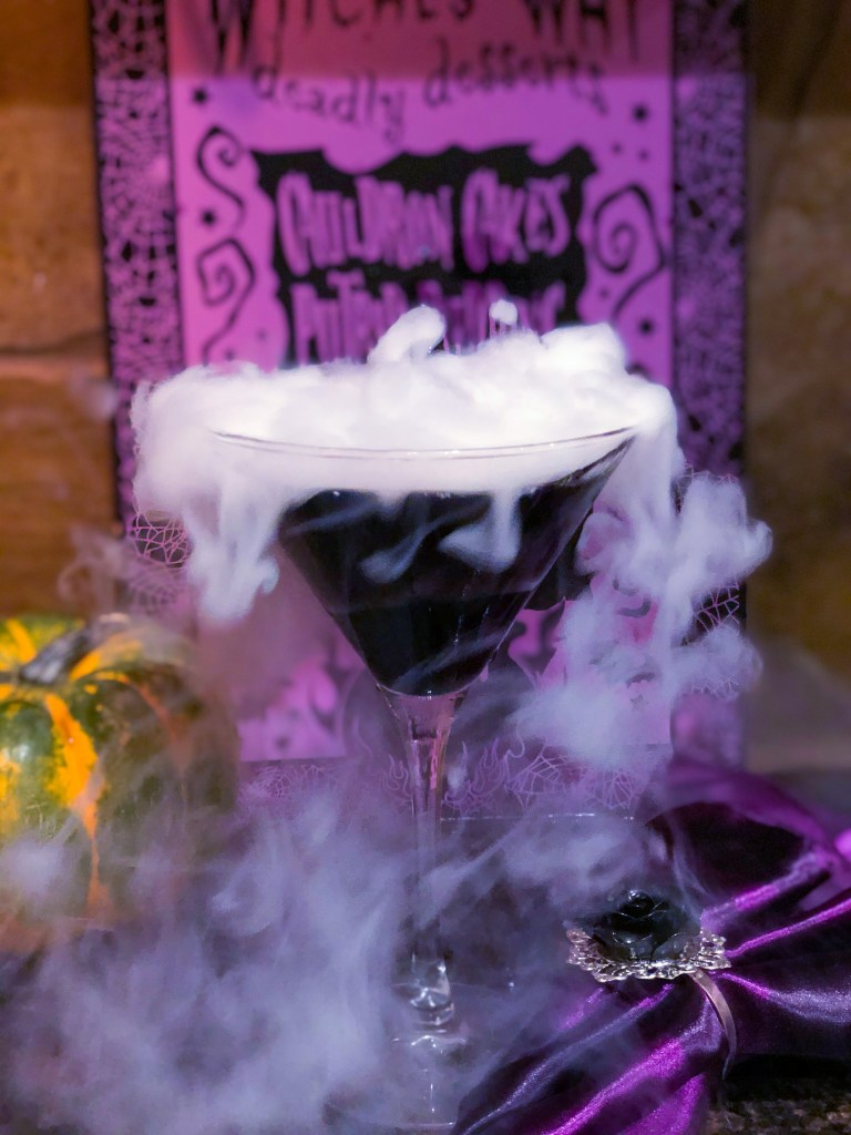 Black Halloween Martini, How to Use Dry Ice Safely in Drinks