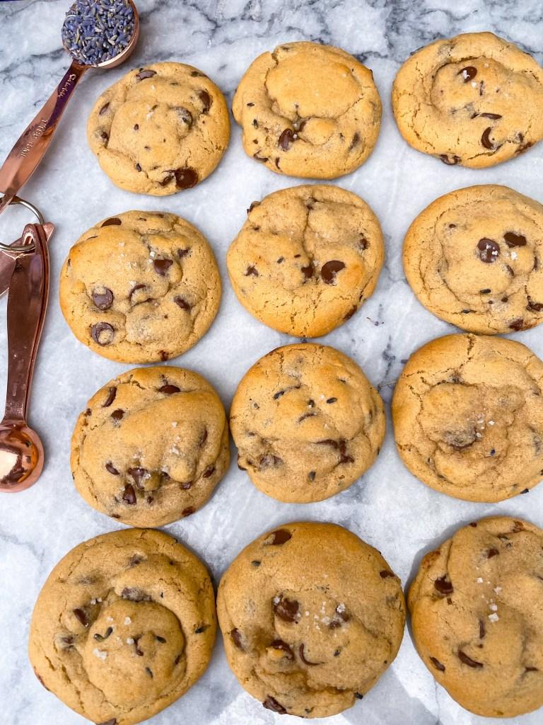 Lavender Chocolate Chip Cookies