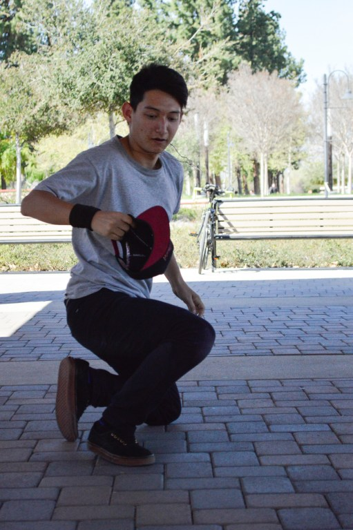"""First year student, Jacob """"Nalu"""" Bauman, 18, dances in """"The Hut"""" in Pierce College on Wednesday, Feb. 24, 2016 in Woodland Hills, Calif. Photo: Laura Chen"""