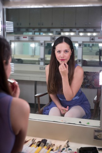 Sandy Luque sits inside the dressing room of the Performing Arts Building on May 16, 2016. At Los Angeles Pierce College in Woodland Hills, Calif. Photo: Taylor Arthur