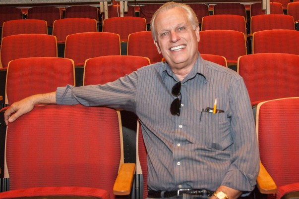 """Gene Putnam, an emeritus adjunct professor for the theater department, sits inside the Performing Arts Theater's mainstage on Friday, May 13, 2016 in Woodland Hills, Calif. Putnam was hired in the fall of 1989 and retired in 2011. Putnam's recent directorial work is """"Sherlock Holmes: The Final Adventure."""" Photo: Mohammad Djauhari"""