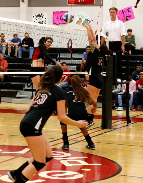 Women Volleyball Game between Pierce College and Victor Valley College, Cassidy Rosso is number 11 attack, Pierce college win, South GYM, Pierce College, Woodland Hills, Calif., Nov. 11 2016, photo by Abdolreza Rastegarrazi, Round up.