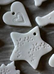 handmade clay ornaments from woodsidekitchen.blogspot.com