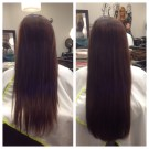 Before and After I Tip Hair Extensions