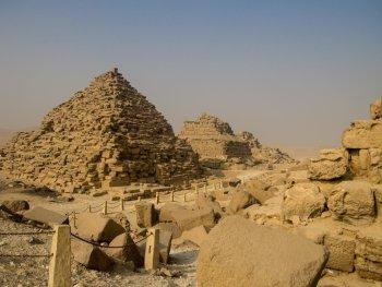 Smaller pyramids on site