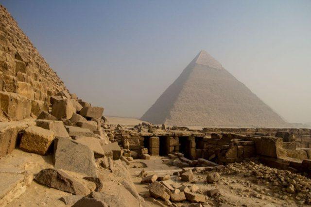 The Khafre pyramid