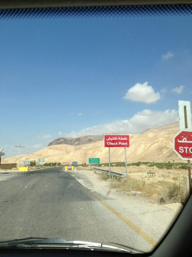 For most foreign travelers, any Check Point in Jordan is an intimidating stop. But as soon as you experience one, you learn that Jordanian soldiers are extremely friendly and helpful. Most of the time, they would waive us through.