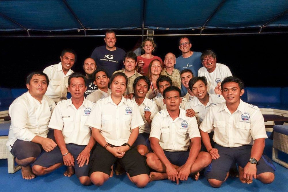 The Raja Ampat Liveaboard divers and crew
