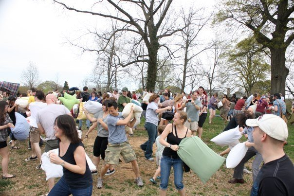 Giant pillow fight!