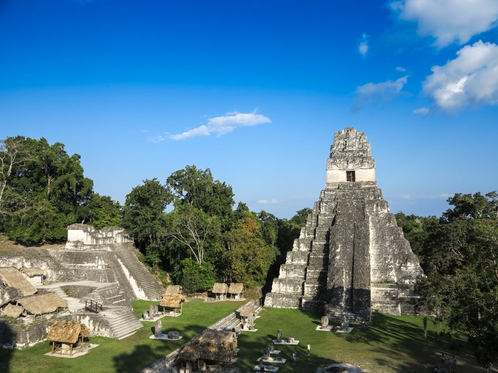 Grand Plaza in tikal national park