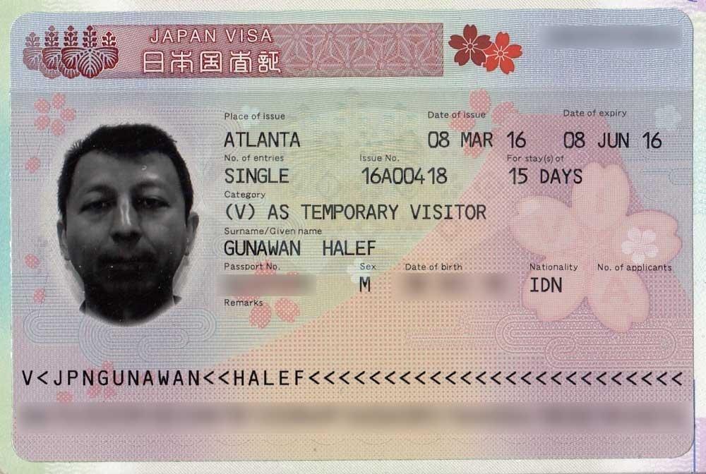 Applying for a visa - Japan visitor visa
