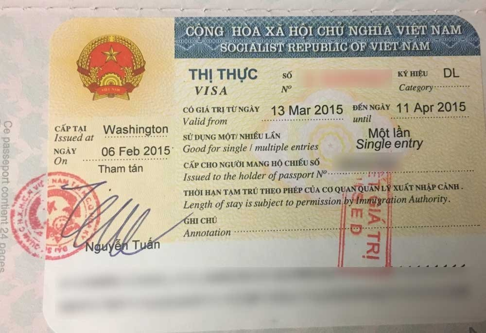 Applying for a visa - Vietnam visitor visa