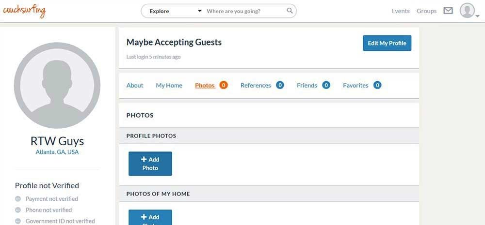 How to Create a Couchsurfing Profile