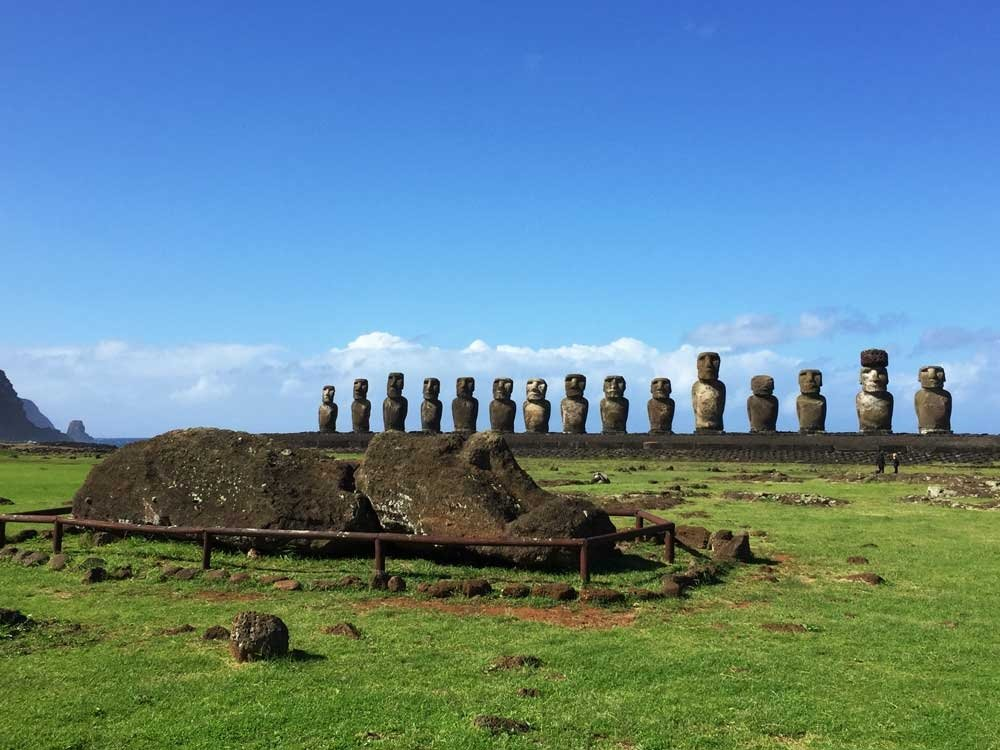 Highlights of Easter Island - Fallen Moai Ahu Tongariki