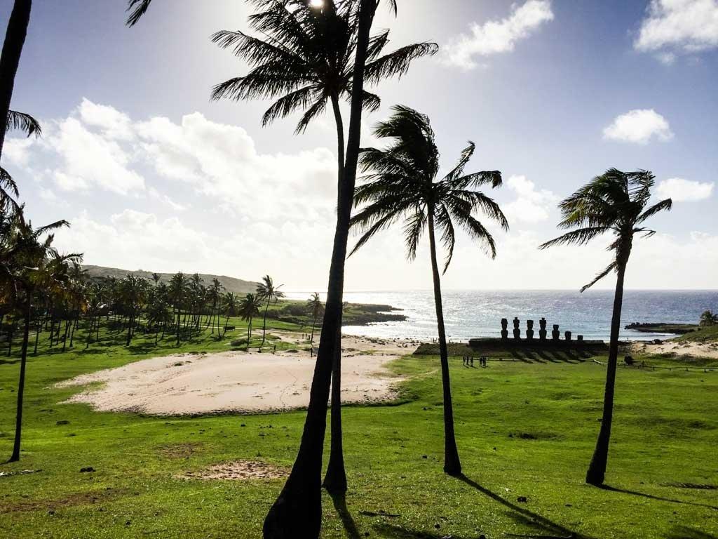 Highlights of Easter Island - Anakena Beach