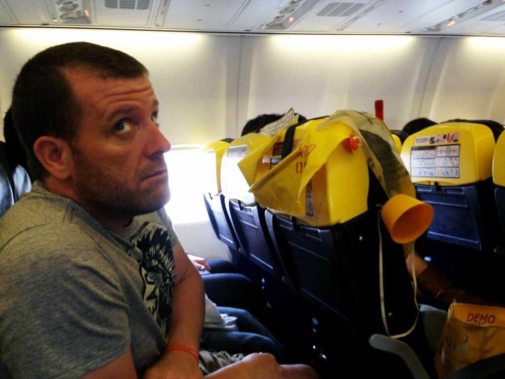 Michael on a RyanAir Flight