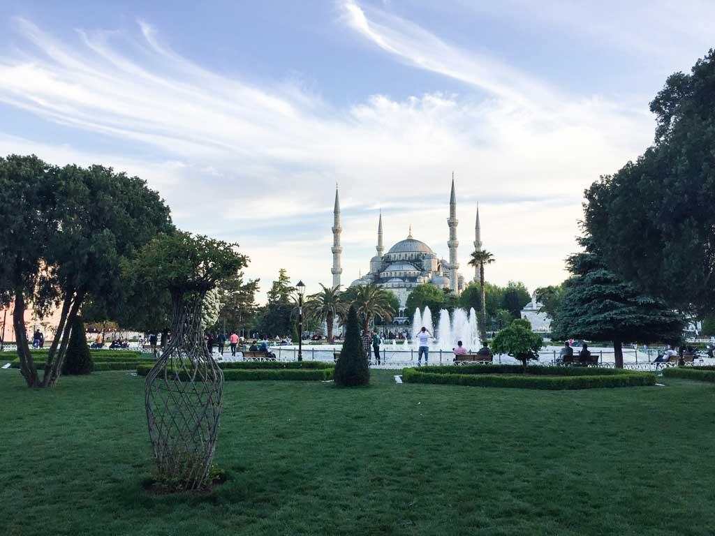 Blue mosque evening shot