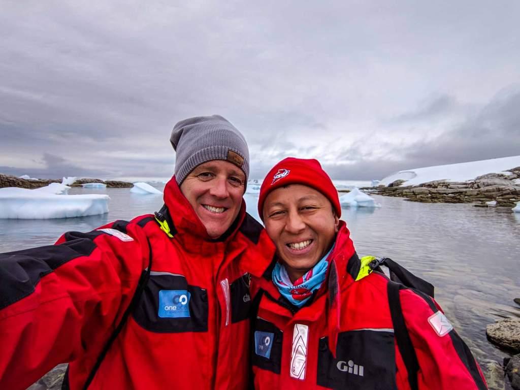 Michael and Halef in Antarctica