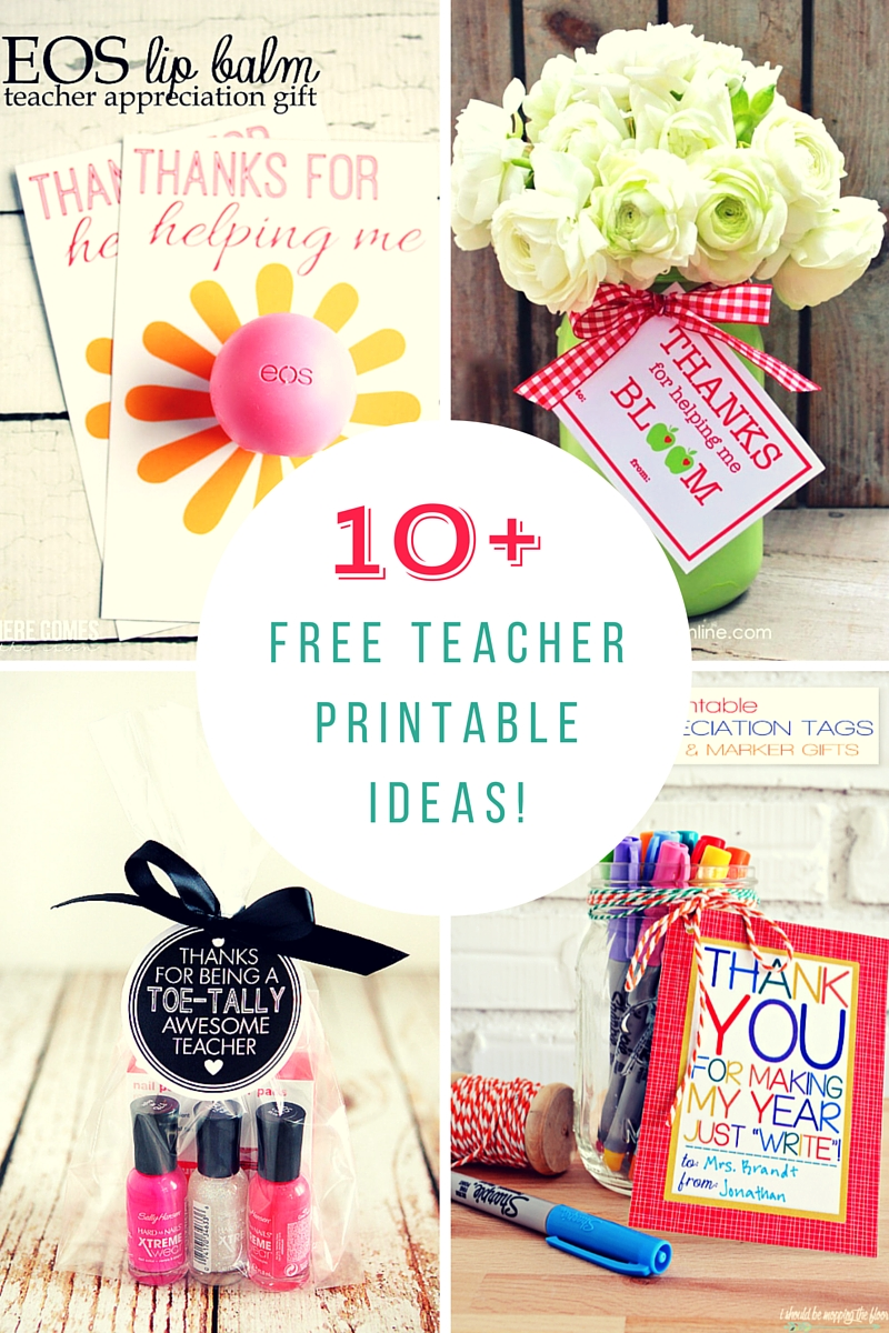 SUPER, SIMPLE Teacher Appreciation Printables! - The Ruffled