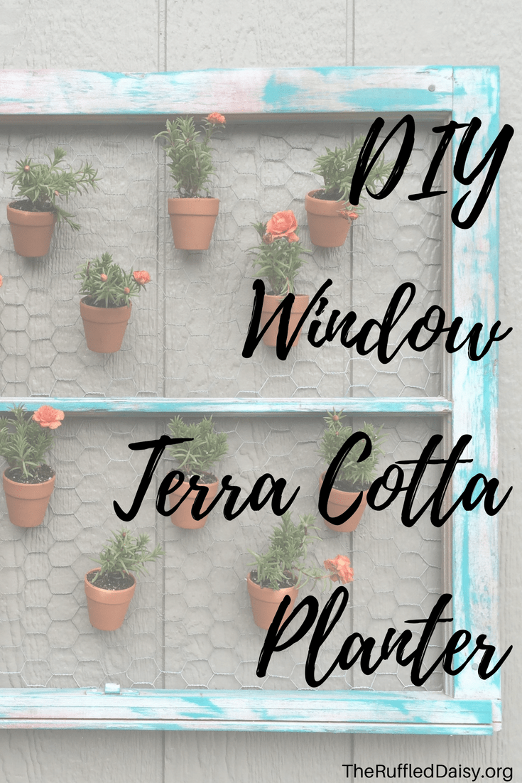 DIY Terra Cotta Window Planter PIN