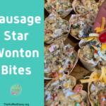 Easy Sausage Star Wonton Bites