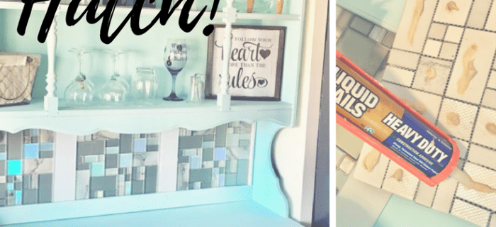 Hutch Makeover with Tile!