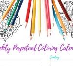 Weekly Perpetual Coloring Calendar