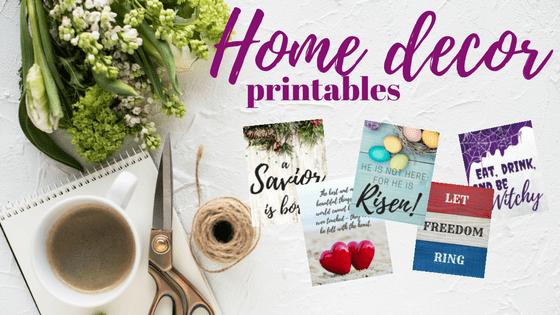 Blog Post Image - Home Decor Holiday Printables