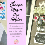Chevron Mason Jar Holder with Chalkboard