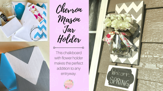 Chevron Mason Jar Holder DIY