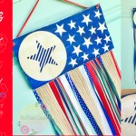 Stars & Stripes Ribbon Door Hanger DIY