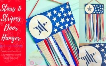 Stars & Stripes Ribbon Door Hanger DIY