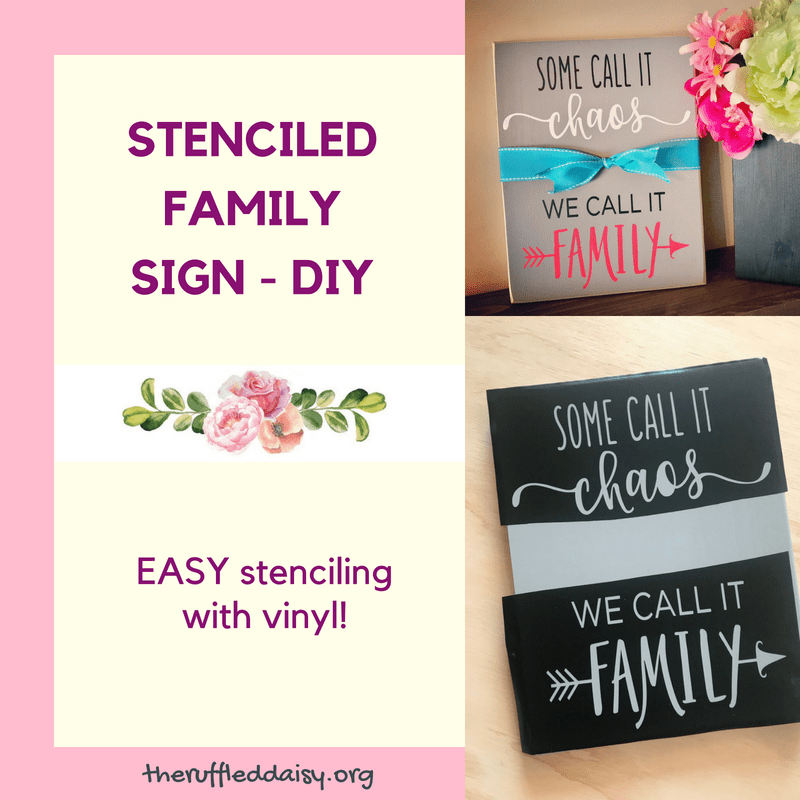 Stenciling with Vinyl
