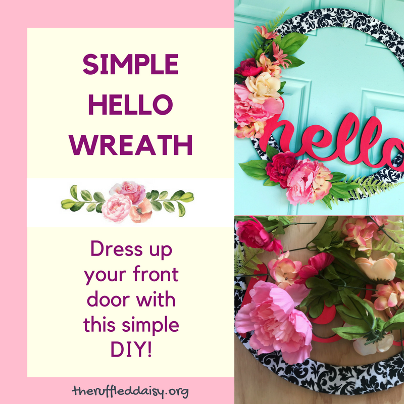 Quick and Easy HELLO Wreath FB Title