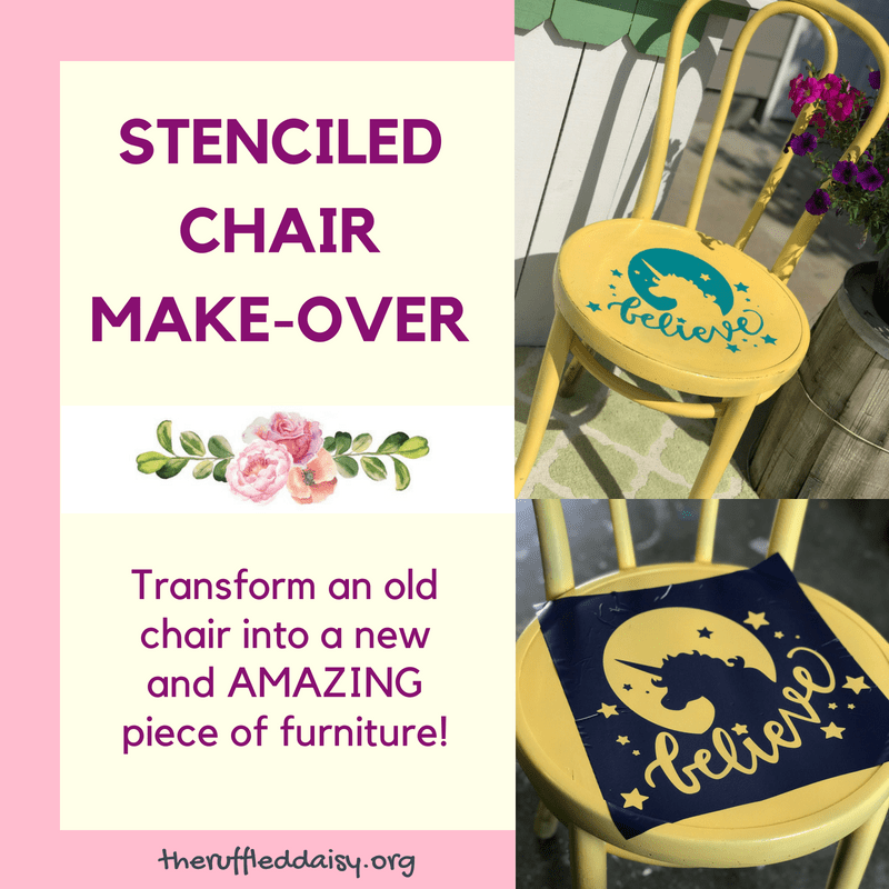 Stenciled Chair Makeover Square