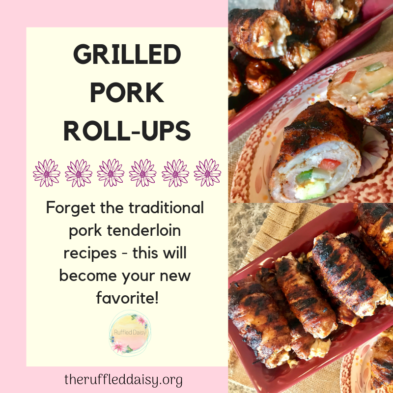 Grilled Pork Tenderloin Roll-ups
