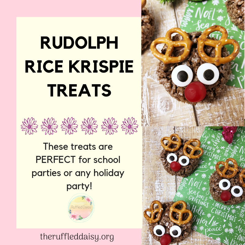 Rudolph Rice Krispie treats final image